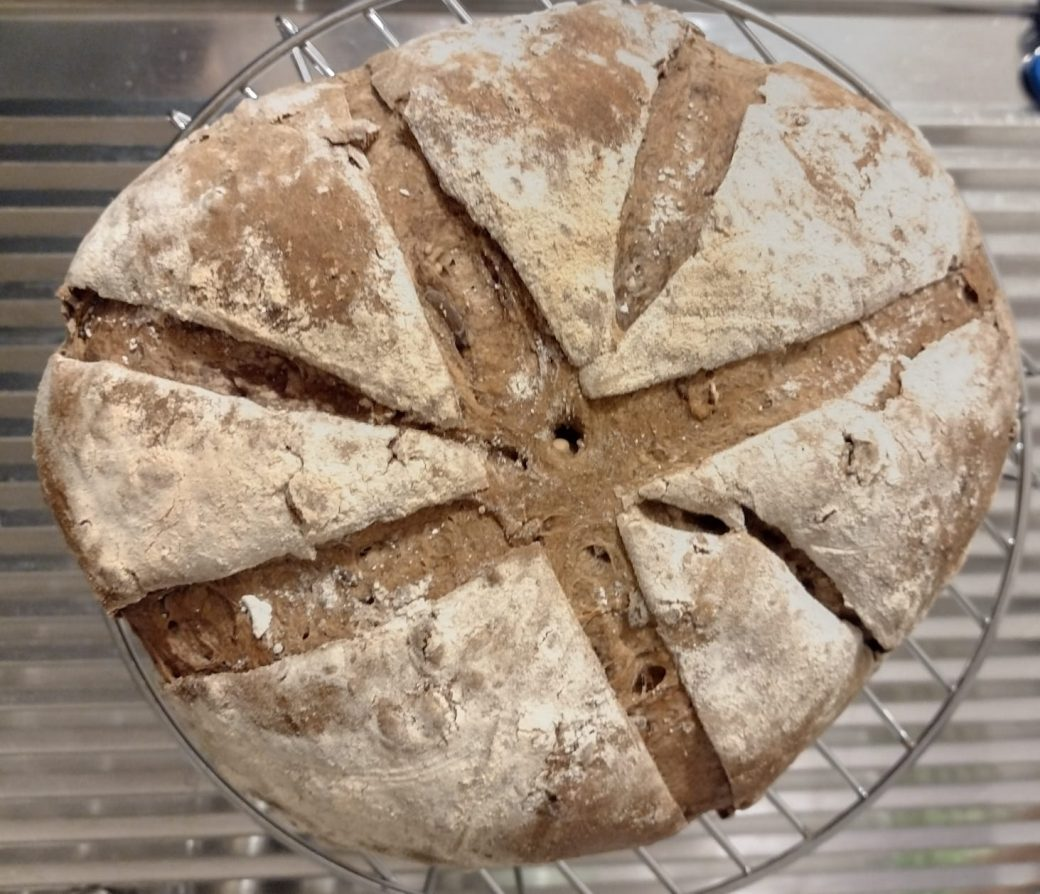 Pane nero con semi e lievito madre ()cottura in forno elettrico)